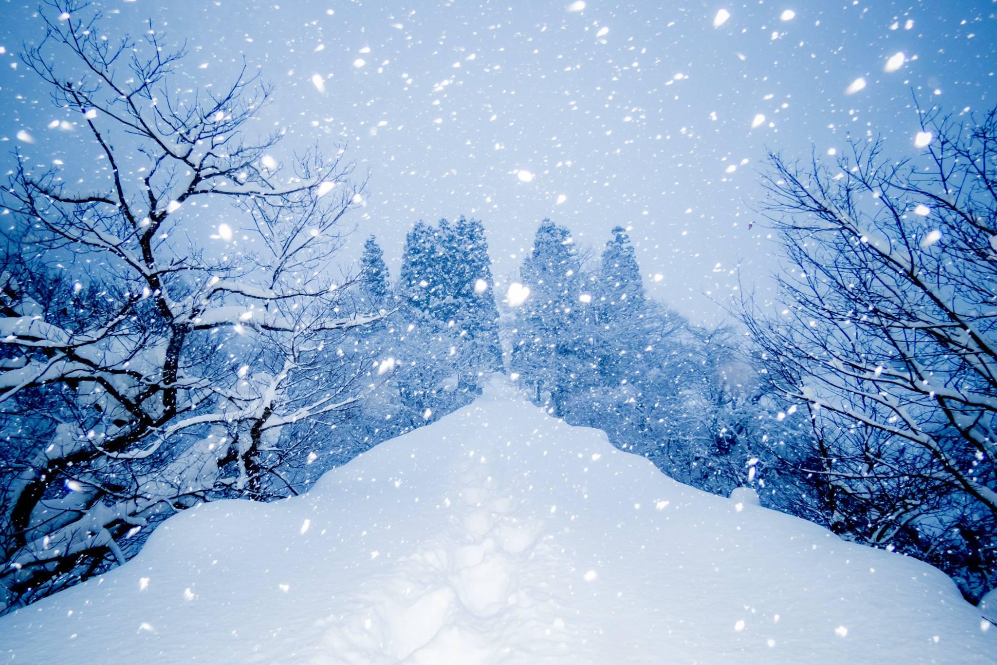 川尻地区の雪景色